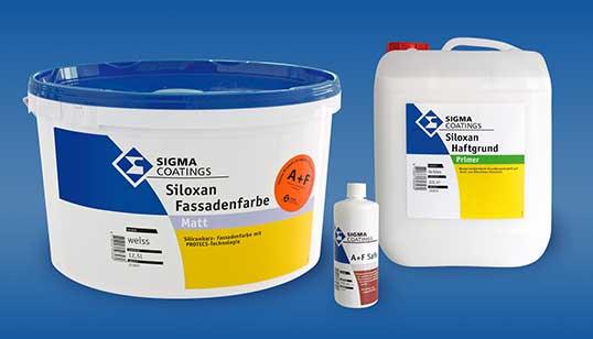 Sigma Siloxan Fassadenfarbe A\F mit 5 Jahren Gewährleistung - warentest fassadenfarbe