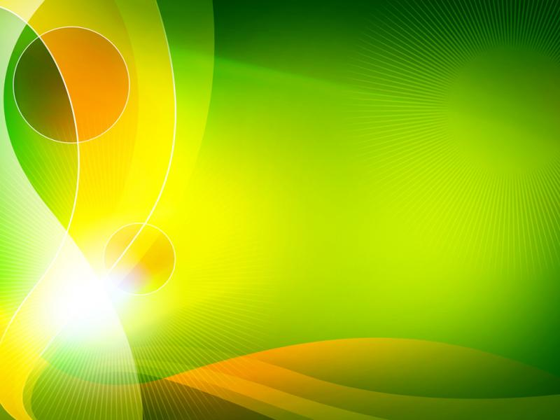 Green Light Burst Abstract PowerPoint PPT image Backgrounds for