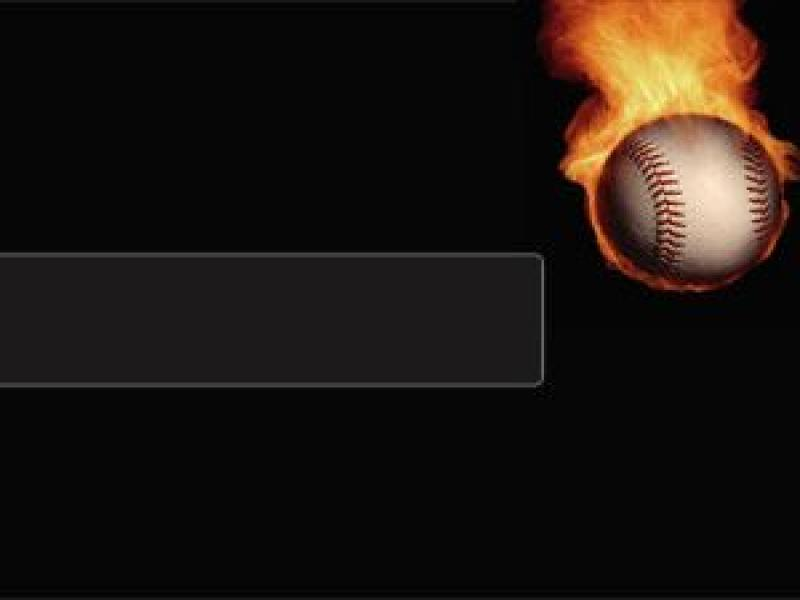 Powerpoint Templates Baseball Fire Templates Sports Backgrounds for