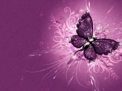Abstract Purple Butterfly Design Free PPT Backgrounds for your