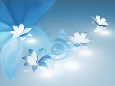 Blue Flower Free PPT Backgrounds for your PowerPoint Templates - blue flower backgrounds