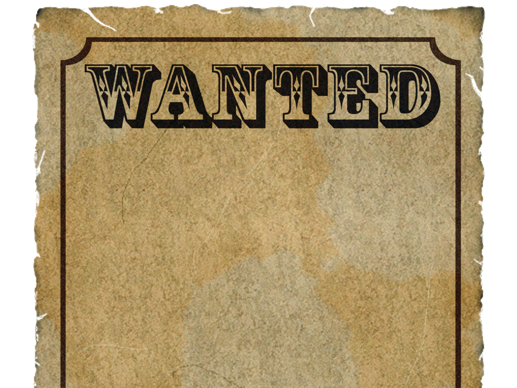wanted poster template publisher – Template for a Wanted Poster