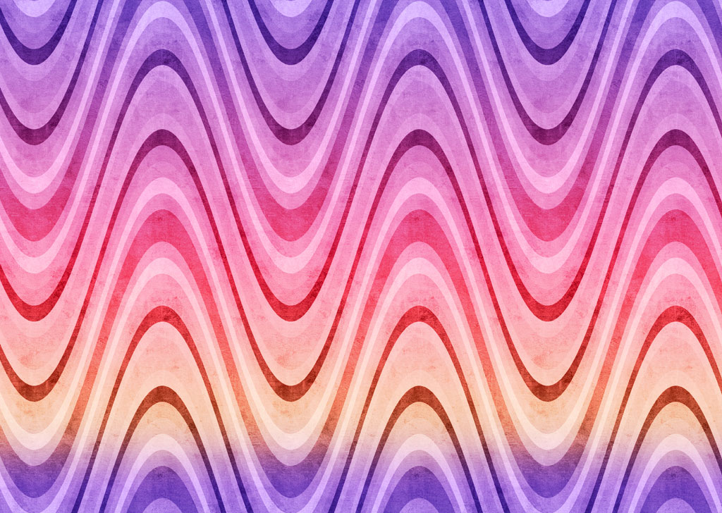 Retro waves purple pink yellow Free PPT Backgrounds for your