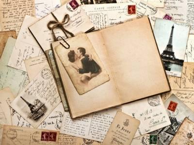 Free Vintage Postcards Backgrounds For PowerPoint - Border and Frame - powerpoint backgrounds vintage
