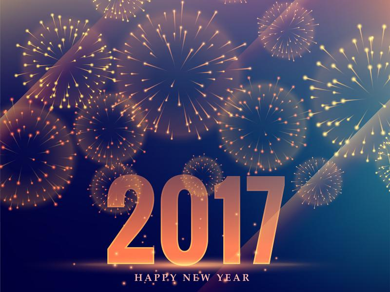 Happy New Year 2017 Backgrounds Presnetation - PPT Backgrounds Templates