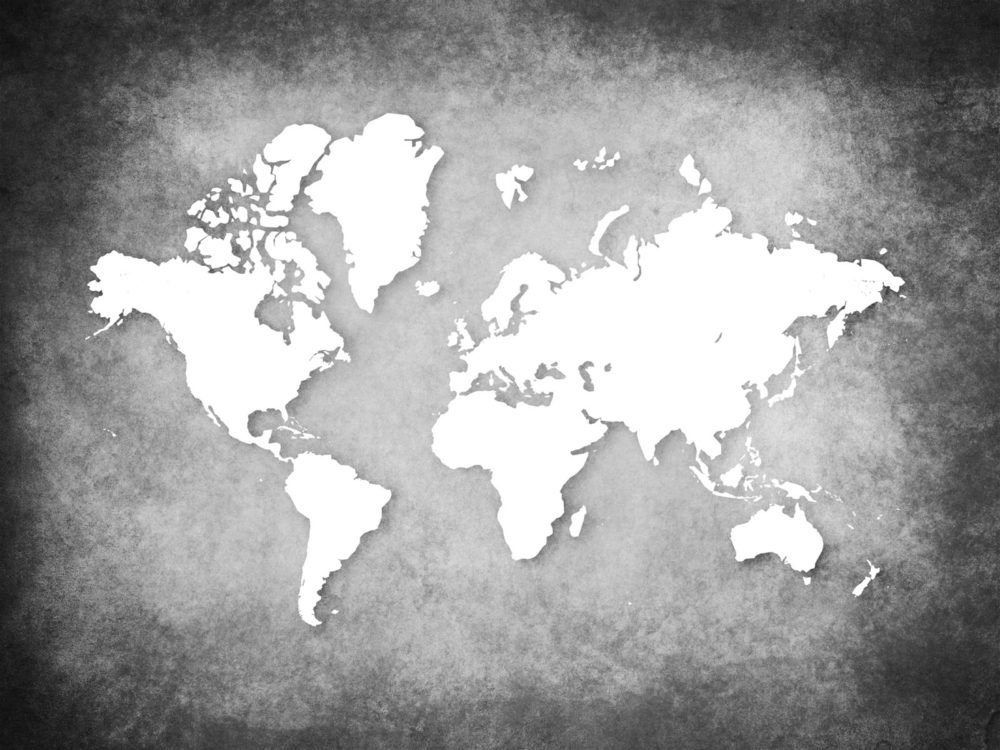 World map on wall Backgrounds - Business, Design, Educational