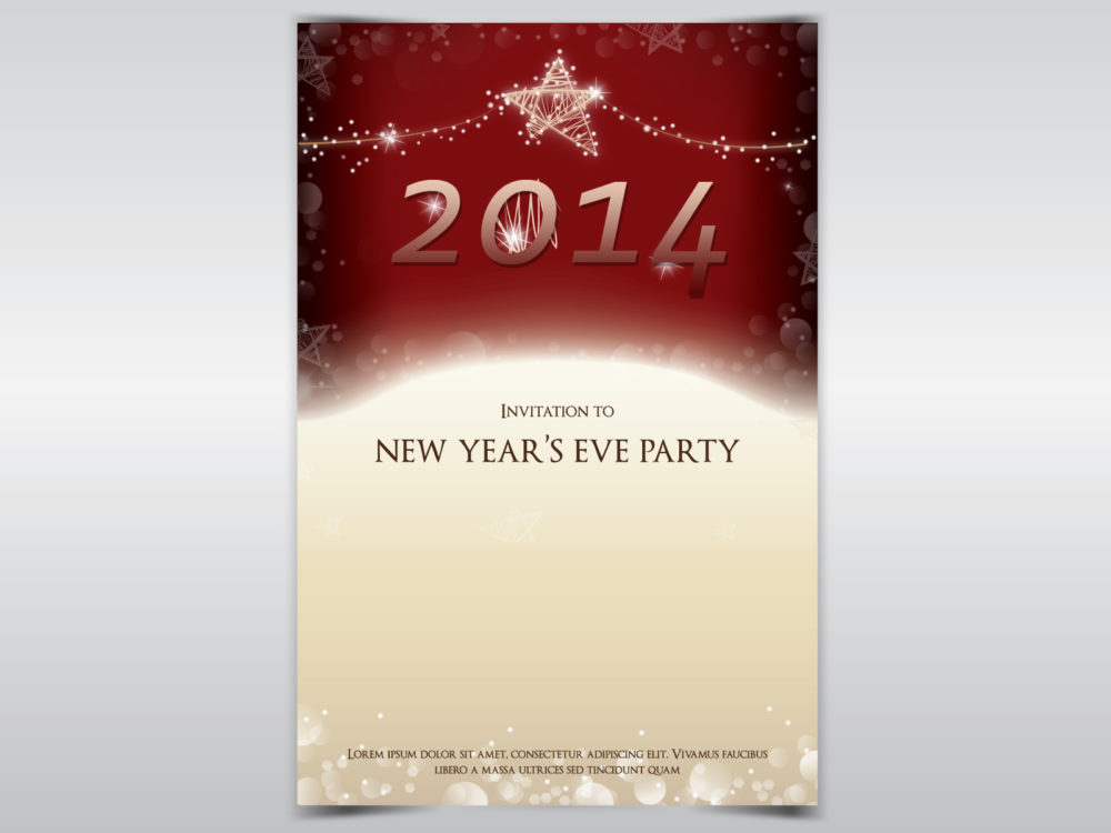 New Year Party Invitation Backgrounds - Christmas, Holiday Templates