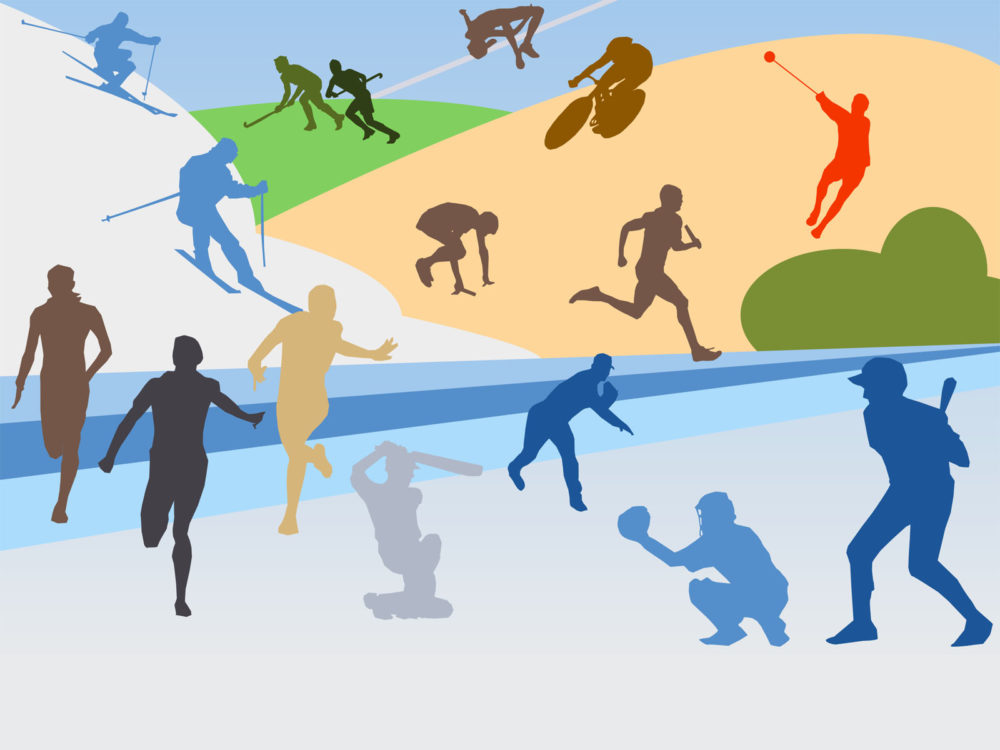 Various Sports Backgrounds - Sports Templates - Free PPT Backgrounds - sports background for powerpoint