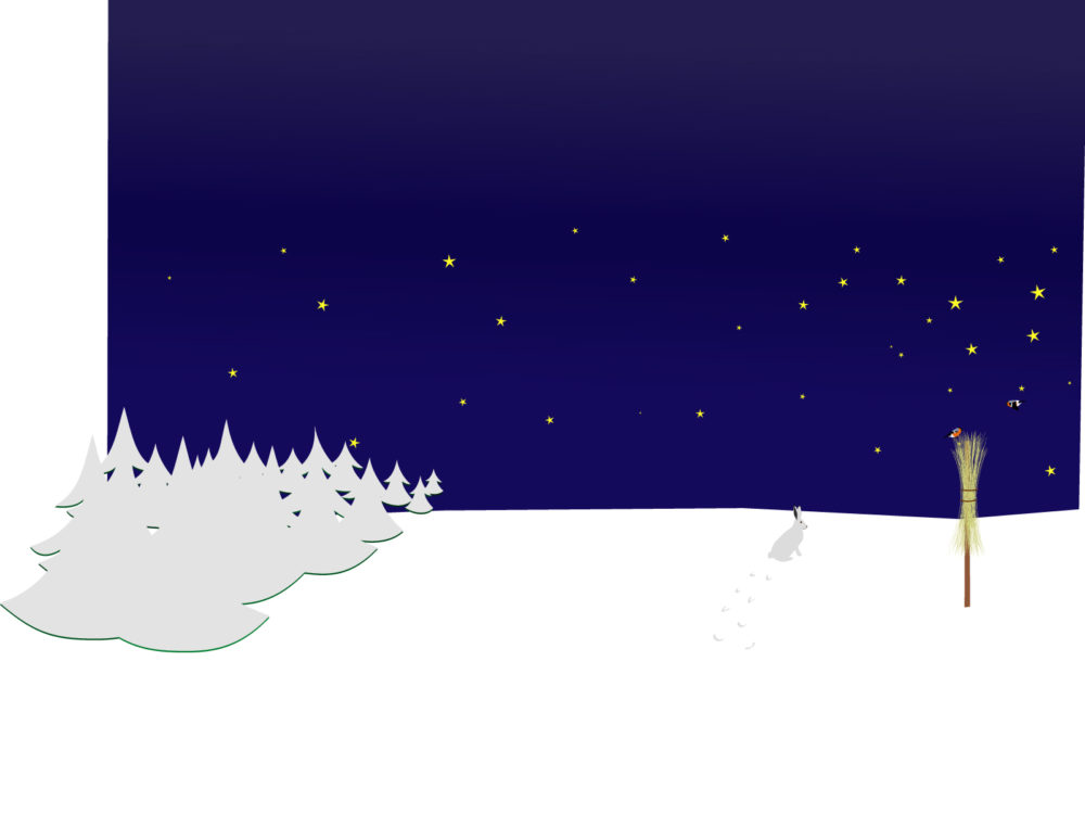 Winter Night Scene Backgrounds Blue, Christmas, Holiday, Navy - navy powerpoint templates