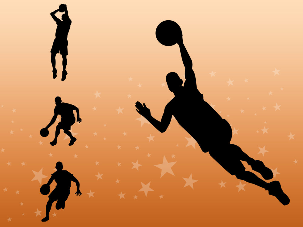 Basketball Players PPT Backgrounds - Sports Templates - PPT Grounds - basketball powerpoint template