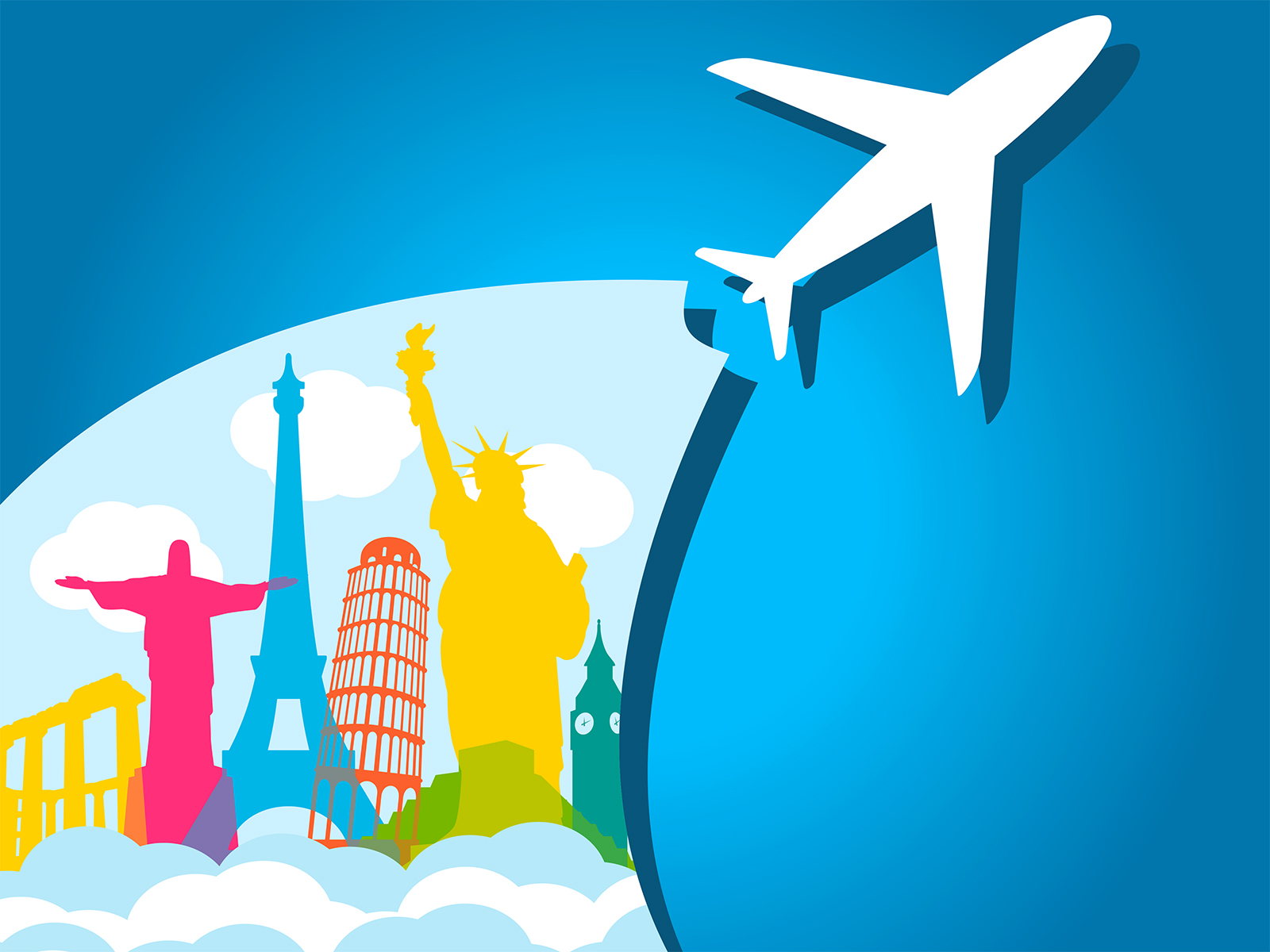 Travel Agency Wallpaper Hd Airplane Holiday Backgrounds Transportation Travel