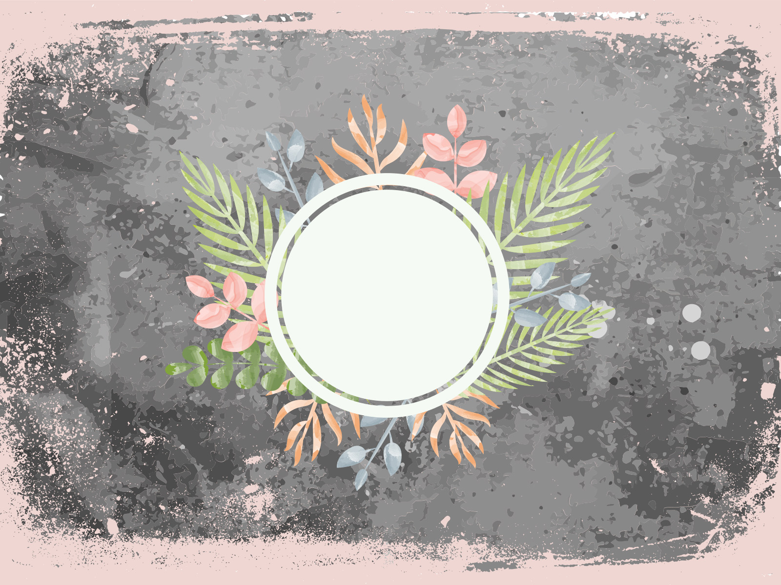 Cute Red Blue And Yellow Hd Graphic Flowers Wallpaper Flower Frame Backgrounds Border Amp Frames Green Grey