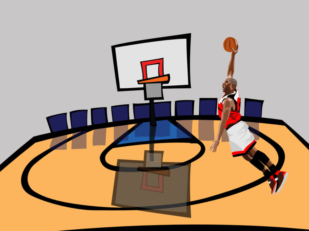 Basketball Game PPT Backgrounds - Games Templates - PPT Grounds - basketball powerpoint template
