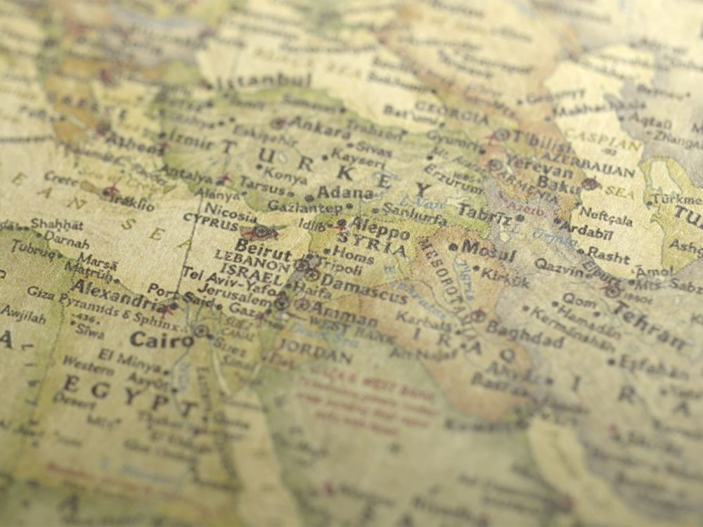 Vintage Map Across To Turkey Backgrounds - Flag Templates - Free PPT - powerpoint backgrounds vintage