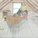 drawing-two-girls-in-attic