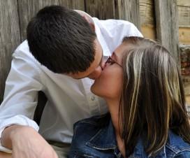 couple kissing erection