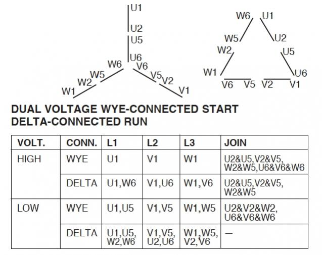 motor wiring diagram 3 phase 10 wire