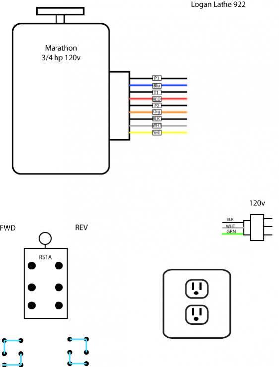 atlas lathe motor wiring diagram