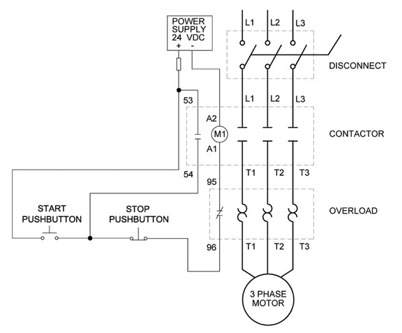 Starter Schematic 480 Bucket Electrical Circuit Electrical Wiring