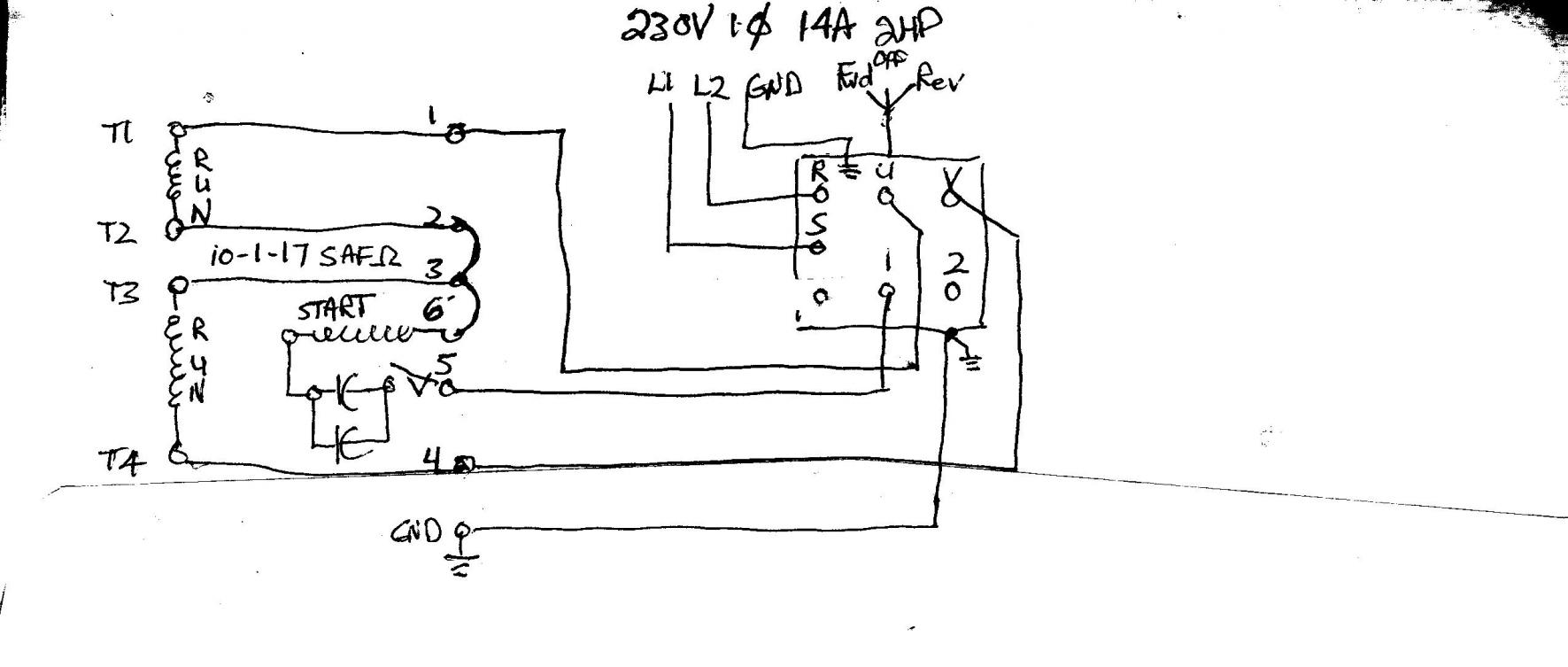 wiring a drum switch for lathe