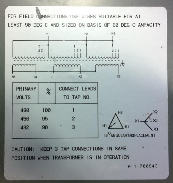 OT - 208V Three Phase Transformer Question
