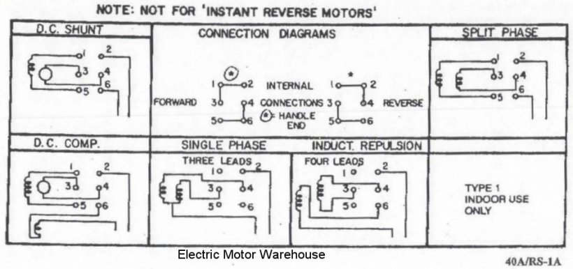 Modern Single Phase Motor With Capacitor Forward And Reverse Wiring ...