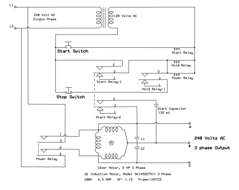 need help wiring an Arco phase converter