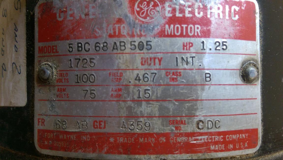 Ge Dc Motor Wiring Diagram - Wiring Data Diagram