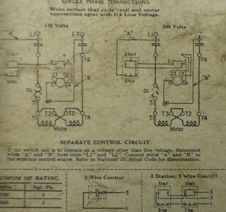 3 Wire Contactor Control Diagram Electrical Circuit Electrical