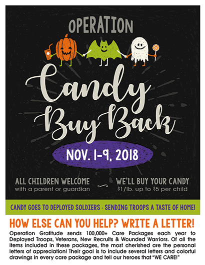 Halloween Candy Buy Back Practice Cafe Dental Marketing