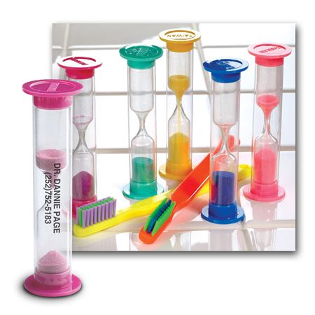 3-Minute Personalized Brushing Sand Timers Practicon Dental Supplies