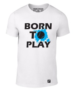 Tricou Born to Play alb solo
