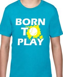 Tricou copii Born to Play albastru