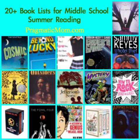 Summer Reading Lists for Middle School Kids \u2013 PragmaticMom