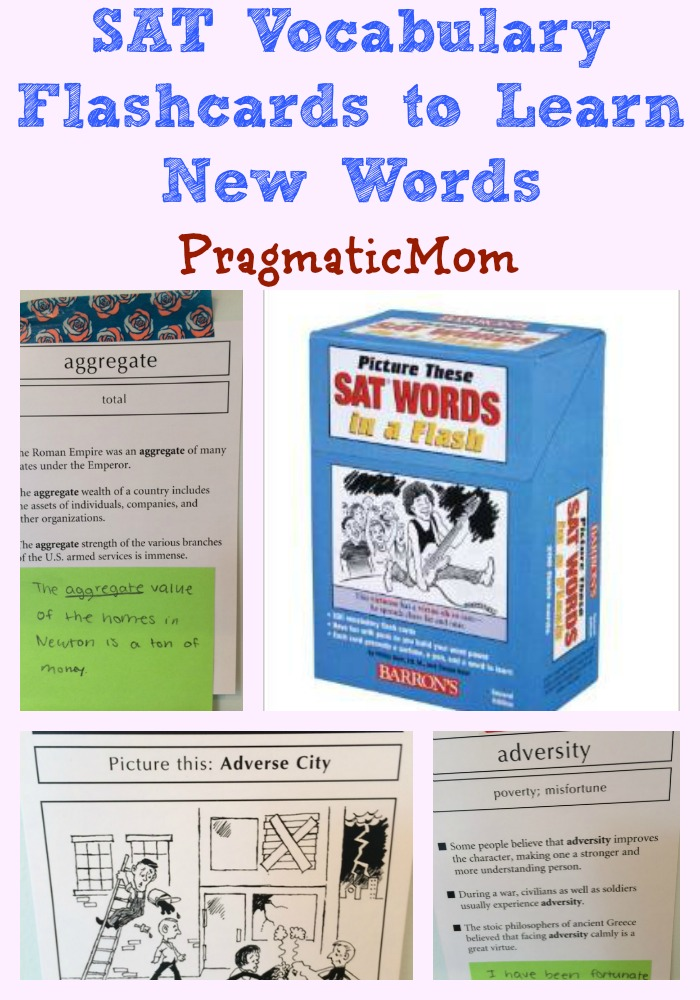 SAT Vocabulary Flashcards to Learn New Words \u2013 PragmaticMom - vocab flashcards