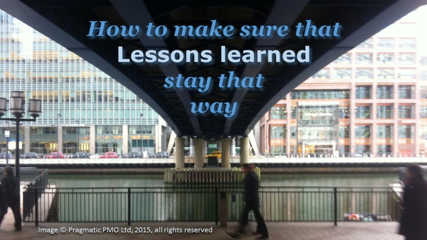 How to make sure lessons learned stay that way
