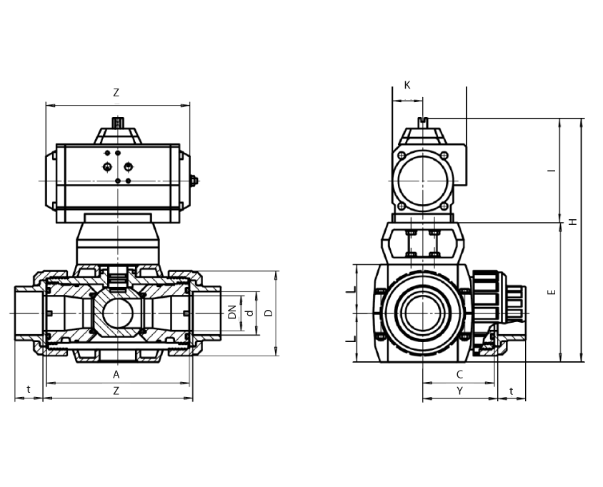 4 way switch drawing