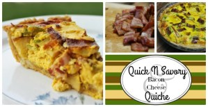 Quick N Savory Bacon & Cheese Quiche