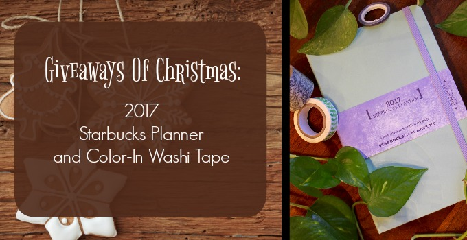 Giveaways of Christmas: The Starbucks Planner and Color-In Washi Tape!
