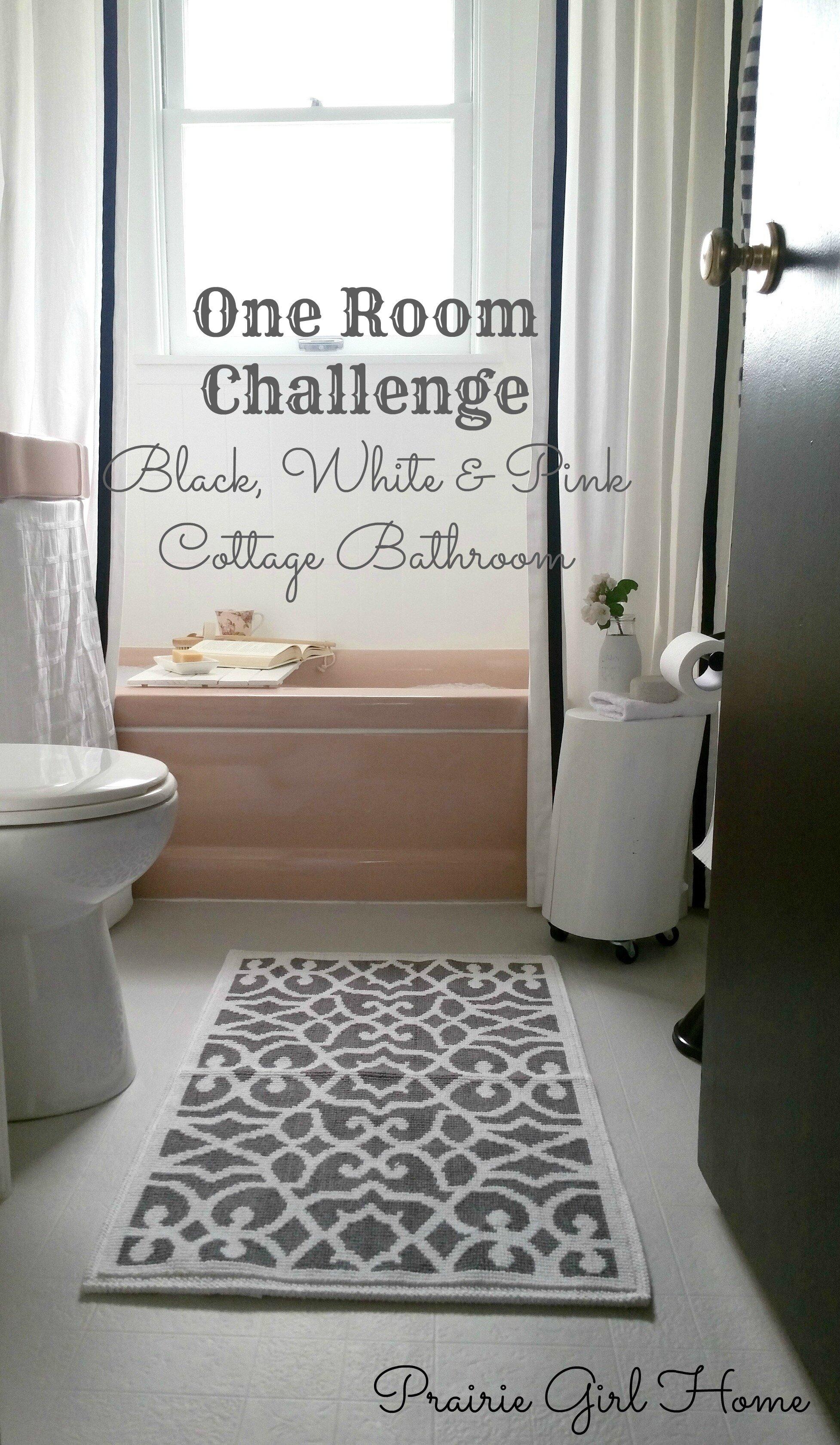 One Room Challenge Week A Glam Cottage Bathroom Reveal Prairie - One week bathroom