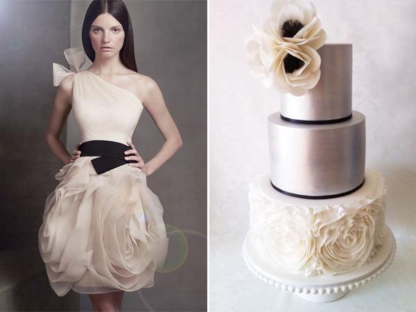 Black White Modern Wallpaper Like Dress Like Cake 23 Wedding Dress Inspired Cakes