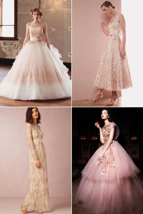 Medium Of Rose Coloured Wedding Dresses