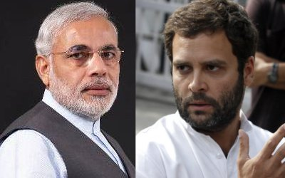 narendra modi and rahul gandhi