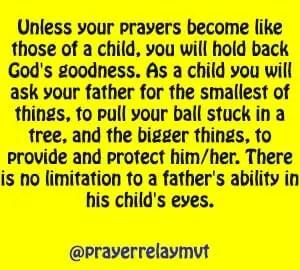 limitation in prayer