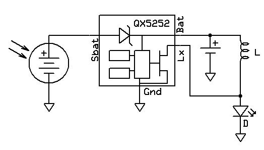 solar panel led driver circuit
