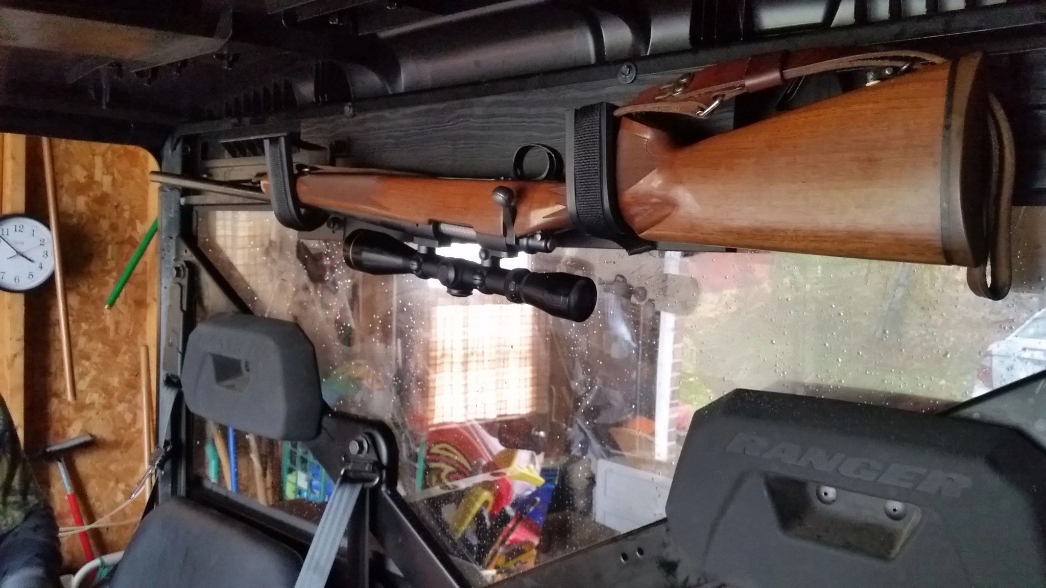 Rear Window Gun Rack