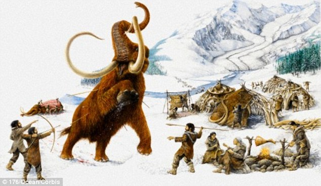 Woolly Mammoth and Man