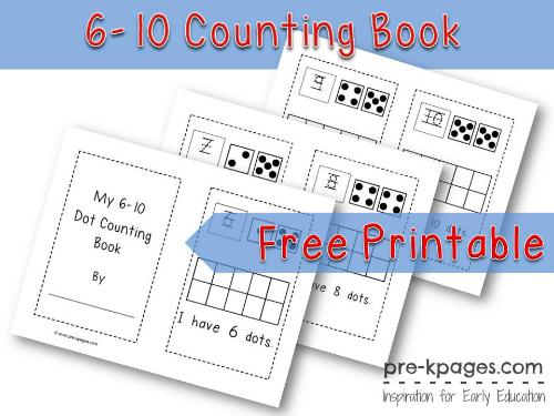 Printable Dot Counting Book {6-10}