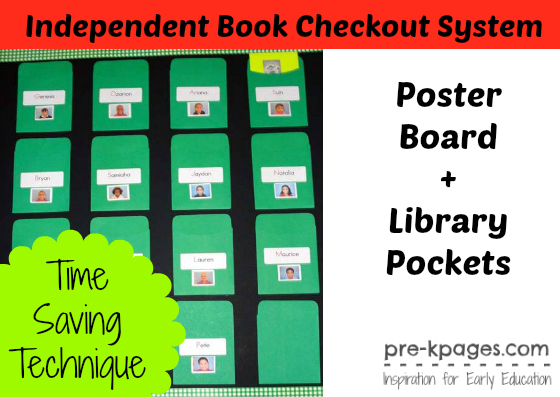 How to Send Books Home with Kids - checkout a book