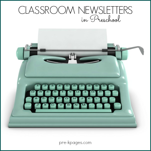 Printable Classroom Newsletters for Preschool and Kindergarten - editable classroom newsletter